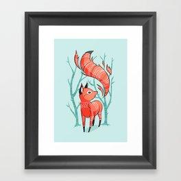 Winter Fox Framed Art Print
