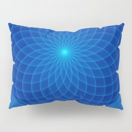 Blue and round Graphic Pillow Sham