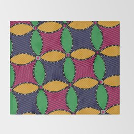Afro Ankara Wax Print 12 Throw Blanket