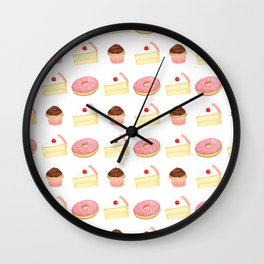 Dessert Pattern Wall Clock