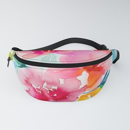 Neon Floral Fanny Pack