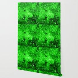 galaxy Stars 3 Bright Green Wallpaper