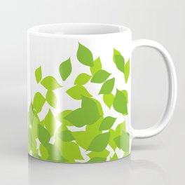 Composition with fresh green spring leaves- earth day gift Coffee Mug