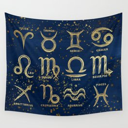 The 12 Zodiac Signs Wall Tapestry