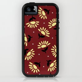 Ethnic flowers iPhone Case