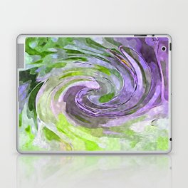 Abstract Waves watercolor abstract Laptop & iPad Skin