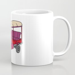 Red tuktuk / autorickshaw Coffee Mug