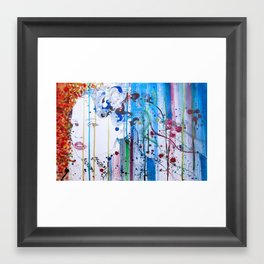 in the summer garden Framed Art Print