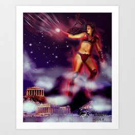 Saint Seiya Santo Femenino Art Print