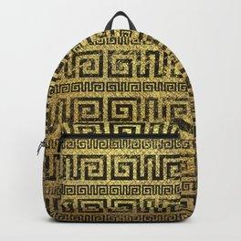 Vintage Gold  Greek Meander Pattern Backpack