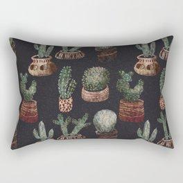 Cactus Pot Pattern  Rectangular Pillow