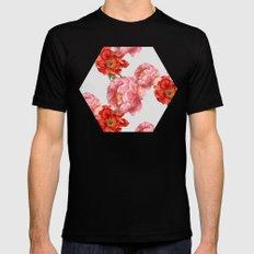 vintage floral Mens Fitted Tee Black MEDIUM