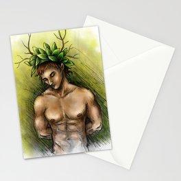 Boy of tree Stationery Cards