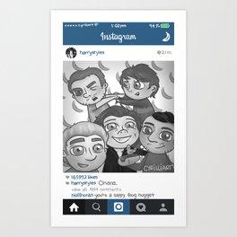 Instagram Aesthetic Art Print