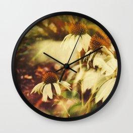 Cone Flowers (Warm) Wall Clock
