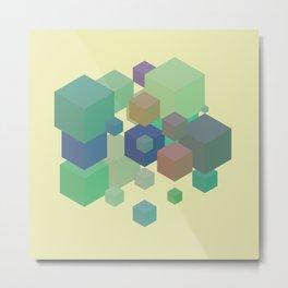 Fly Cube N1.6 Metal Print