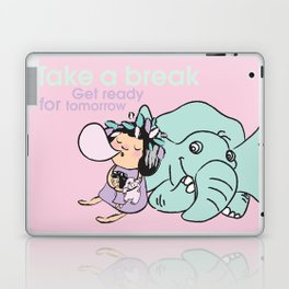 Lala's Adventure - A Smile is a curve that sets everything straight. Laptop & iPad Skin