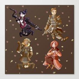 Dragon Age: Origins Companions Canvas Print