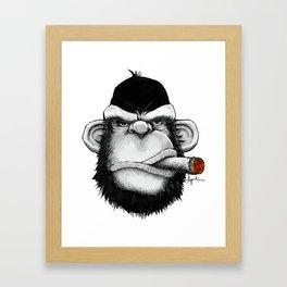 Cigar Monkey Framed Art Print