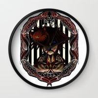 kingdom hearts Wall Clocks featuring Kingdom Hearts Nightmare before christmas Sora by Shade-Umbra
