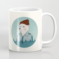 the life aquatic Mugs featuring Bill Murray - Life Aquatic - round by Drivis
