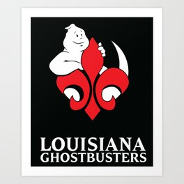 Louisiana Ghostbusters Logo with Black Background Art Print