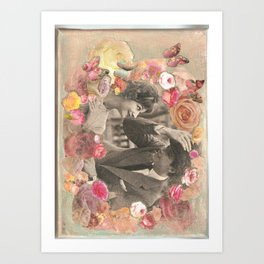 Quirky  1950's couple Art Print