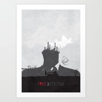 true detective Art Prints featuring True Detective by Geminianum
