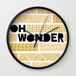 Oh Wonder Band Poster Wall Clock