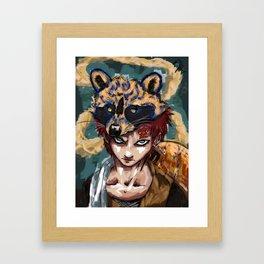 Abstract Gaara Framed Art Print