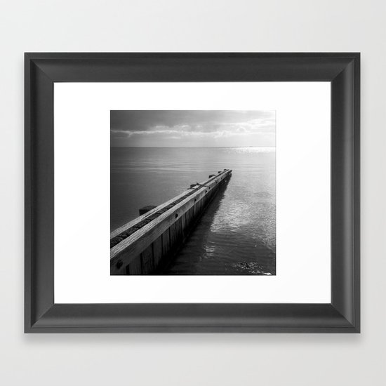 the break water 07 Framed Art Print