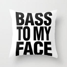 Bass To My Face (orange/black) Throw Pillow