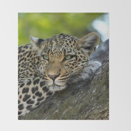 Aqua_Leopard_20180101_by_JAMColorsSpecial Throw Blanket