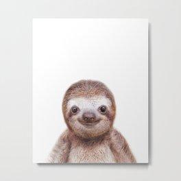 Sloth Baby Animals Art Print by Zouzounio Art Metal Print