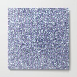 Colorful modern glitter texture print Metal Print