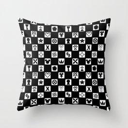 Kingdom Hearts Grid Throw Pillow