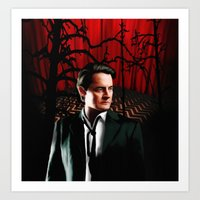 dale cooper Art Prints featuring Twin Peaks' Dale Cooper by Jeff D'Ottavio