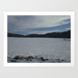 Light Snow Art Print