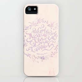 Never Will I Leave You - Hebrews 13:5 iPhone Case