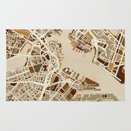 Boston Massachusetts Street Map Rug