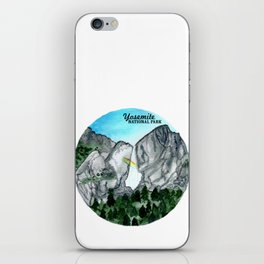 Yosemite National Park Watercolor iPhone Skin