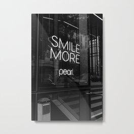 Smile Black and White Print Metal Print