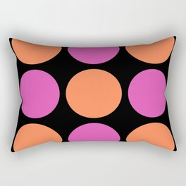 Mid Century Modern Polka Dot Pattern 9 Pink and Orange 2 Rectangular Pillow