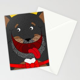 Dog Love,  kids wall art, Cute, fun prints of animals in love, Mix and Match Them!! Stationery Cards