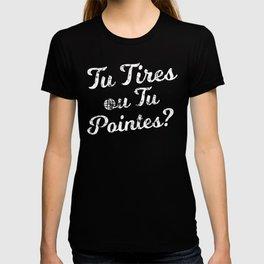 Tu Tires ou tu Pointes for the Petanque Aficionado T-shirt