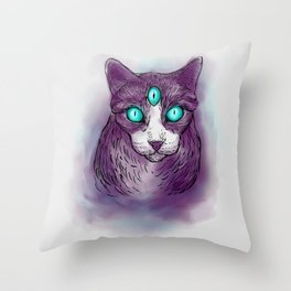 Cat I Throw Pillow