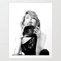 angelina jolie Art Prints featuring Angelina Jolie by Jade Chauvin