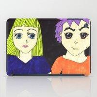 manga iPad Cases featuring Manga pals by Betty Apple Pie