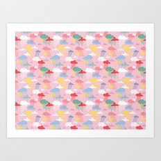 Cloud Pattern Art Print