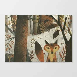 Fox And Trees Canvas Print